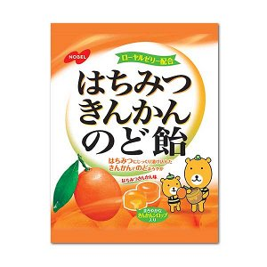 NOBEL Hachimitsu Kinkan Nodo - мандариновые леденцы для горла с медом и маточным молочком
