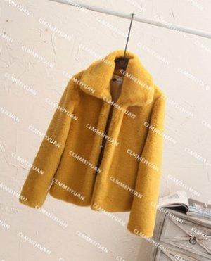 Куртка Куртка, оформленная длинными рукавами, искусственный мех/полиэстер. Размер (обхват груди, длина рукава, длина изделия, см): S (88,58,54), M (92,59,55), L (96,60,56), XL (100,61,57), 2XL (104,62