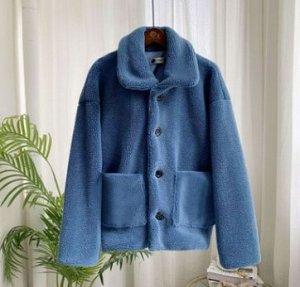 Куртка Куртка, оформленная длинными рукавами, искусственный мех/полиэстер. Размер (обхват груди, длина рукава, длина изделия, см): S (99,55,59), M (103,56,60), L (107,57,61), XL (111,58,62), 2XL (115,
