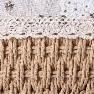Корзина для хранения плетёная Доляна «Полянка», 22?17?10 см, цвет бежевый