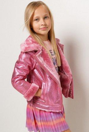 Куртка детская для девочек Varda глубокий розовый