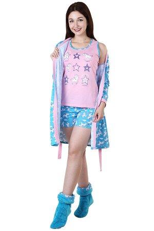 Комплект с халатом Единорожка Цвет: Розовый. Производитель: Оптима Трикотаж