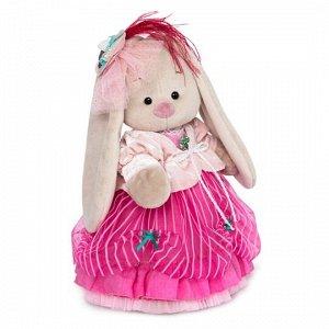 """Мягкая игрушка """"Зайка Ми барышня в карамельно-розовом (большой)"""" (32см)"""
