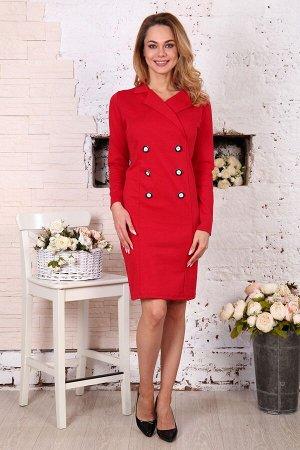 Д507 Платье Пиджак (Красное)