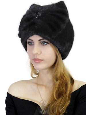 ШапкаХелен Цвета Черный,Темно-коричневый,Слива Шапка «Хелен» - женский головной убор из натурального меха норки. Модель с высокой закругленной тульей и оригинальным объемным бантом из того же меха сза