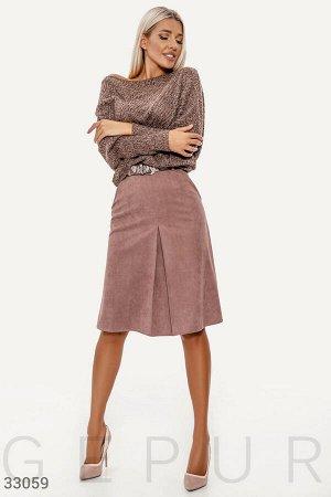 Стильная замшевая юбка