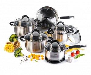 Набор посуды 13 пр.(5л+3,2л+2,2л+1,5л+1,5л), Шелборн, TALLER