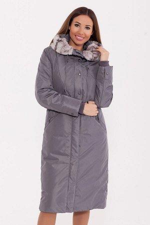 #80525 Пальто Серый