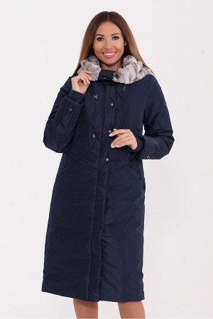 #80524 Пальто Темно-синий