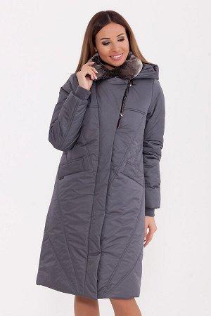 #80522 Пальто Серый