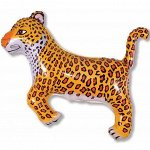 """902635 Шар-фигура/ мини фольга, """"Леопард черный"""" (FM), 29 см х 42 см"""