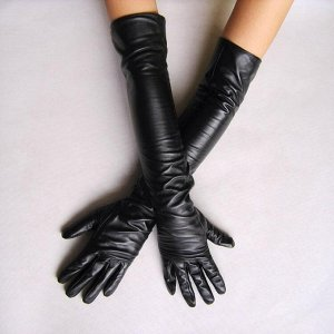 Длинные перчатки  кож