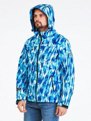 Мужская осенняя весенняя ветровка синего цвета