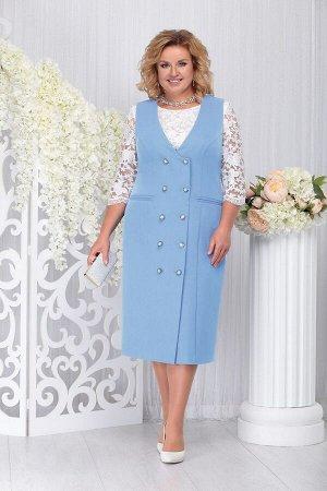 Блуза, платье Ninele Артикул: 7254 голубой
