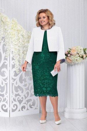 Жакет, платье Ninele Артикул: 5744 изумруд+белый