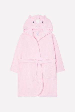Халат для девочки Crockid К 5481 холодно-розовый (единорог)