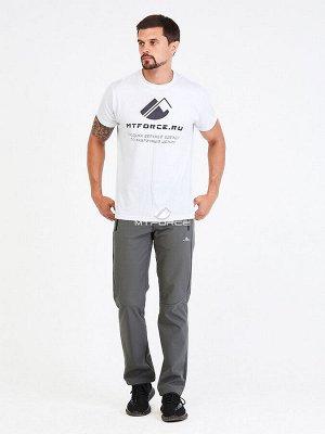 Мужские осенние весенние виндстопер серого цвета