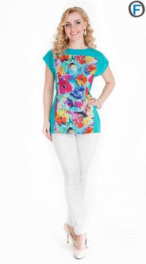 Блуза 601-2 c поясом