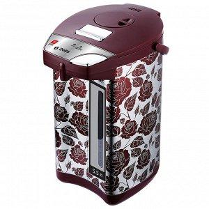 """Чайник-термос электрический 900 Вт, 5,5 л DЕLTA DL-3037 """"Розы"""" нержавеющая сталь"""