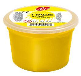 Гуашь 225 мл желтая светлая