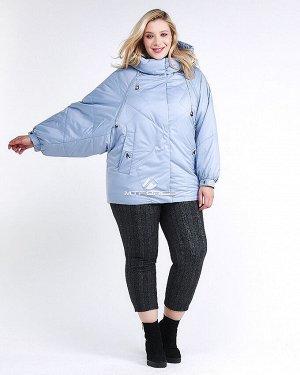 Женская зимняя классика куртка большого размера голубого цвета