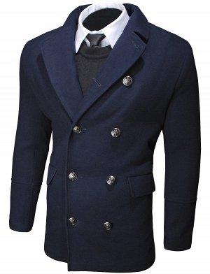 Пальто T003 Dark Blue