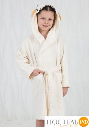 Детский халат с ушками на макушке Happy people HP_2842 panna Кремовый 2-4 года