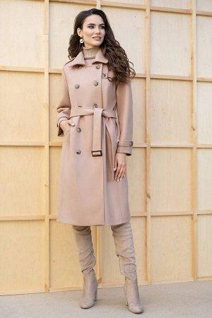 Пальто Пальто ЮРС 19-237/3  Состав ткани: ПЭ-40%; Шерсть-23%; Акрил-37%;  Рост: 164 см.  Классическое пальто – консервативный и стильный элемент гардероба, в котором каждая девушка выглядит жен