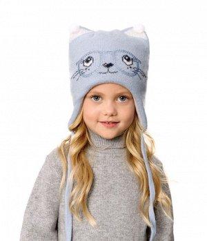 Детская тёплая шапочка для девочки р50-52-54, фото