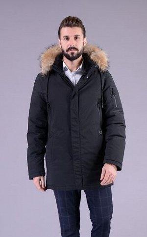 Куртка мужская зимняя Р-1218 черный без меха
