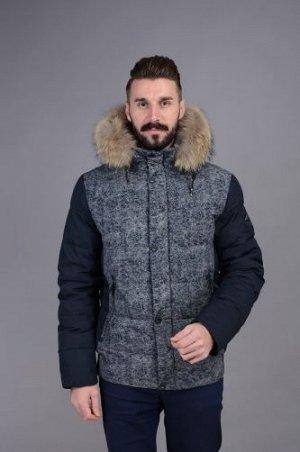 Куртка мужская зимняя Р-1009 синий без меха