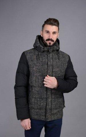 Куртка мужская зимняя Р-1009 черный без меха