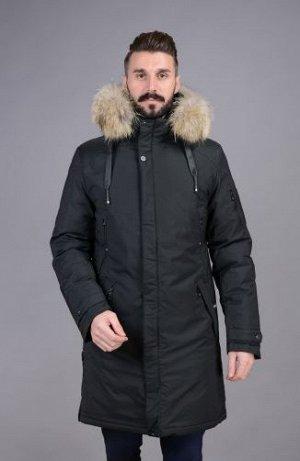 Куртка мужская зимняя Р-1077 черный без меха