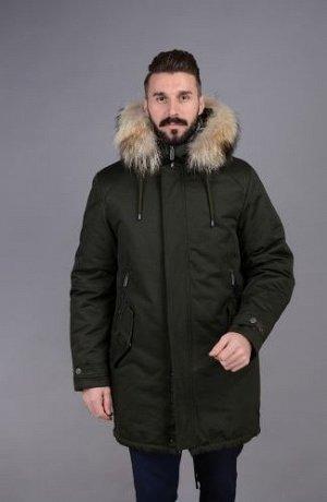 Куртка мужская зимняя Р-1103м хаки