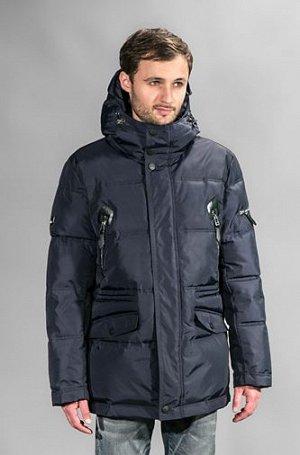 Куртка мужская зимняя Р-667 т.синий