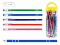 Ручка шариковая В БАНКЕ, цвет чернил - СИНИЙ, удлиненный корпус 19 см, цветной корпус