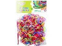 Набор цветных резиночек, двухцветные, 300 шт
