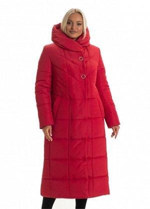 Модный пуховик в красном цвете Код: 134 красный