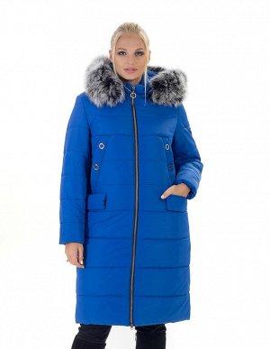 Пальто зимнее женское цвета электрик Код: 133 электрик. Чбк