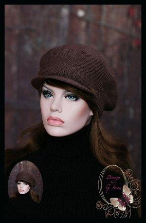 Женская кепи с козырьком «Лайма» (шоколад)