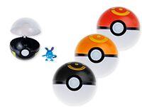 Шар-покебол с игрушкой внутри, 8 шаров в дисплее, цена за 1 шар