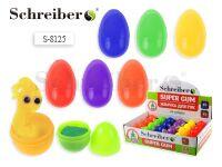 Жевачка для рук в пластиковом яйце ПЕРЛАМУТР, 6*4 см, 24 штуки в картонном дисплее