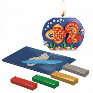 """Набор лепим свечи """"Золотая рыбка"""""""