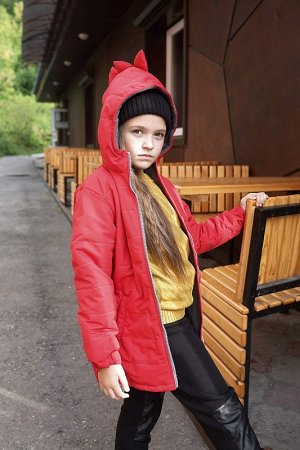 Куртка Дино подростковая демисезонная красная