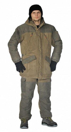 Костюм зимний «ГЕРКОН» куртка/брюки, цвет: св.хаки/т.хаки, ткань: Финляндия