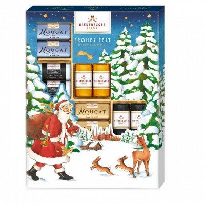 Магазин рождественских сладостей. Пряники, штоллены, шоколад — Niederegger — Конфеты
