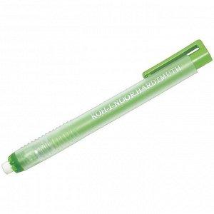 Ластик Koh-I-Noor круглый, натуральный каучук, 130*13*10, выдвигающийся, пластиковый футляр