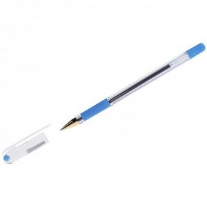 """Ручка шариковая MunHwa """"MC Gold"""" голубая, 0,5мм, грип, штрих-код"""