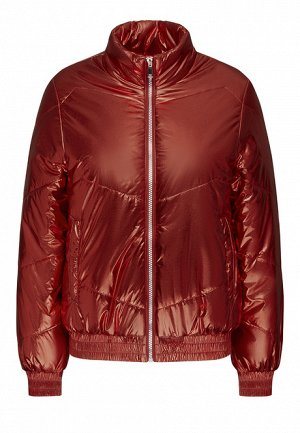 Утеплённая стёганая куртка, цвет тёмно-красный