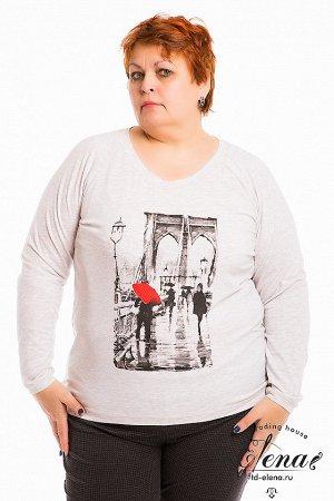 Толстовка Толстовка выполнена из однотонной кулирки с лайкрой. Вырез горловины круглый, длинный рукав покроя реглан, спереди нанесён принт. Низ изделия разноуровневый, сзади длиннее, чем спереди. Горл